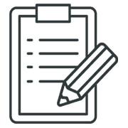 <strong>Inschrijfformulieren</strong></br>Voeg formulieren toe </br>die direct in de app </br>worden afgehandeld.